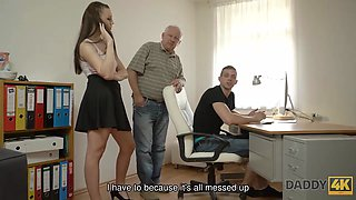 DADDY4K. Son repairs PC of his dad while he fucks his girlfriend Ornella Morgen
