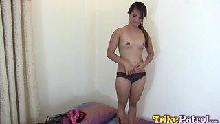 Trikepatrol long nippled asian sucks big dick