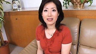 Naughty mature Aya Masuo with huge tits and her rabbit