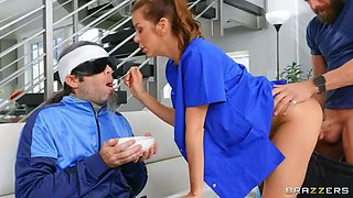 BRAZZERS Nurse Alexis Fawx is No for Work Yes for Sex