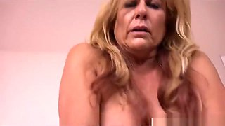 Starving Mother-In-Law Candy Riding Cock Well Hot Son