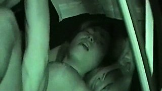 Horny Girl Night Fucking In Car Seat