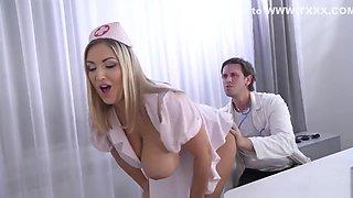 Krystal Swift - Titty Fuck In Doctors Office HD, BBW Big Tits