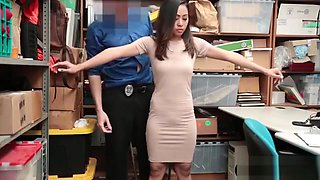 Tiny asian thief slut punish fucked by a dirty officer