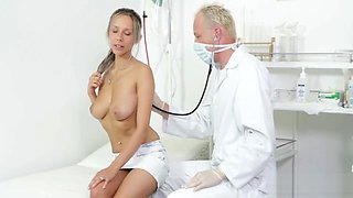 Handsome doctor is horny