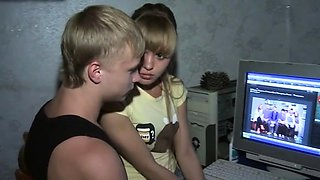 Classy blonde russian gal Willa does something
