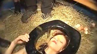 Domination - Olga, German Slave, Used And Abused in gang bang (Pissing, ana