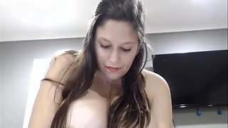 Pregnant Woman Masturbates and Squirts