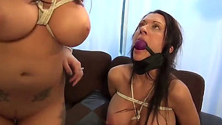Two Big Boobs Babes Kidnapped and Prepared to be Sold