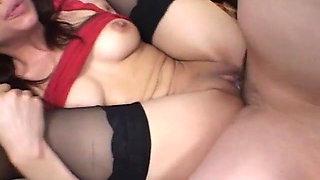 Black Stockings Brunette EVA Hard Fucking