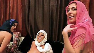 Dinner table orgy Hot arab dolls attempt foursome
