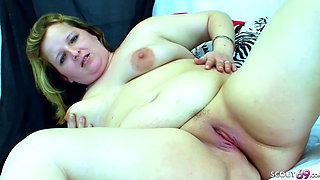 Chubby Fat Mom Fuck by Big Dick Step Son when Dad away