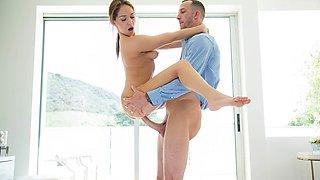 Lustful babe Sara Luvv banged real good