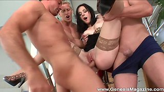 Gangbang with her lovers is something that Niky Angel can't forget