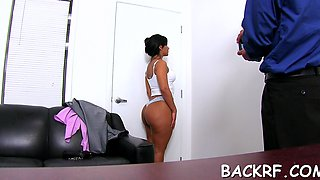 Sexual floozy cums from cock riding