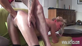 Kinky fisting and XXL dildo fucked MILF