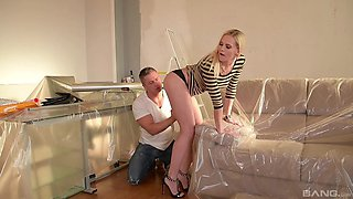 Long legged blonde MILF Lilly Peterson fucked hard in high heels