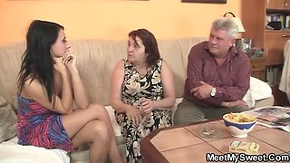Angelica Kitten - Son Steps Out, Parents Bang His Girlfriend