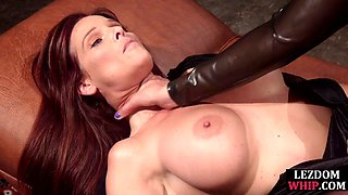 Big titted lesbian milf gets dominated