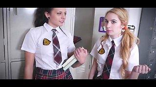 College lesbians with teacher