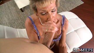 Cum-Hungry Sandra Ann Rides Again!