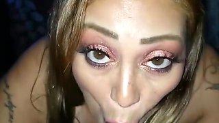 Sexy Smoking Latina Cock Sucking Tease