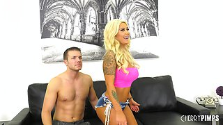 Great sexual session with alluring busty blonde Brandi Bae