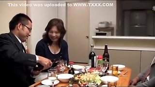 Japanese Drunk Wife and husband friends