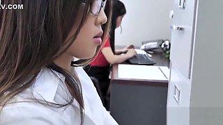 Asian Office Sluts- Jade Kush &amp_ Nyomi Star