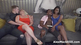 Interracial Couples Swap, And Transition Into A Hardcore Foursome (preview)