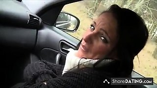 Milf blowjob in car
