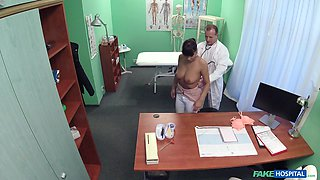 Dirty doctor tells his patient to remove her bra and panties