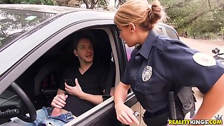 Kinky Cop Makes Dude Lie Down On Her Car For A Cowgirl Ride - Markus Dupree And Mercedes Carrera