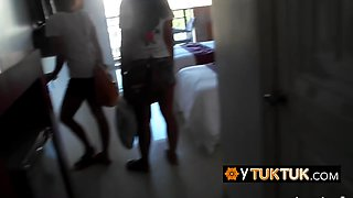 Hot BISEXUAL amateur HARDCORE SEX threesome with BACKPACKER