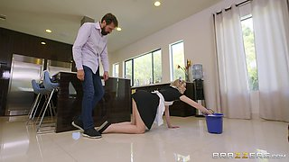 House maid Anny Aurora rough fucked by the handsome house owner
