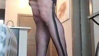 Crossdresser in Fishnets and Heels