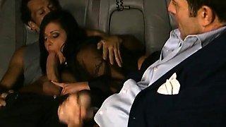 Hot cuckold in car
