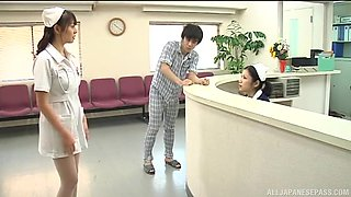 Japanese nurse Ai Takeuchi enjoys getting fucked by a patient