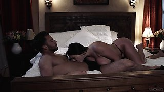 Romantic fucking in the evening with busty wife Angela White