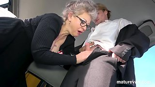 Slutty Mature Takes Me For A Ride