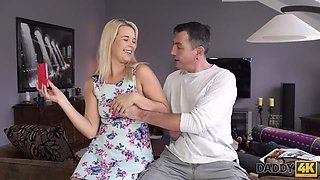 DADDY4K. Horny old man catches the right moment to seduce sons girl Dream Nikki