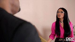 The Office - Black Cocks Jizz on Female Boss Glasses