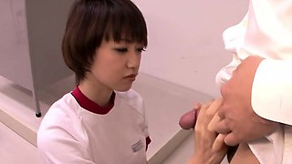 A curious Asian schoolgirl experiences her first penis!