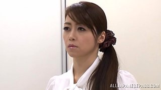 Ass eating Japanese girl Maki Hokujo knows how to pleasure a dick