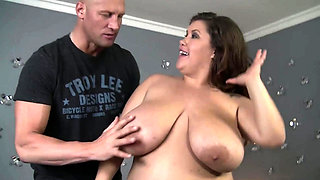 Huge ass big beauty fucks for cum in mouth
