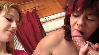 Her tight young pussy can't fit his old huge dick