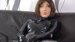 Latex doll masterbate