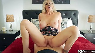 Hot housewife and boy ( subscribe fore more )