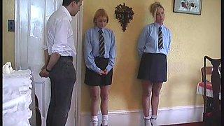 Sexy little British teens get punished by their horny teacher