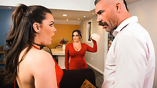 Kimber Woods & Natasha Nice & Charles Dera in Shes So Scandalous - BRAZZERS